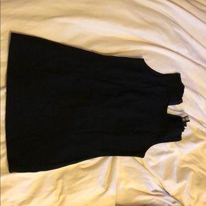 ASOS, black bodycon (back zip) mini dress